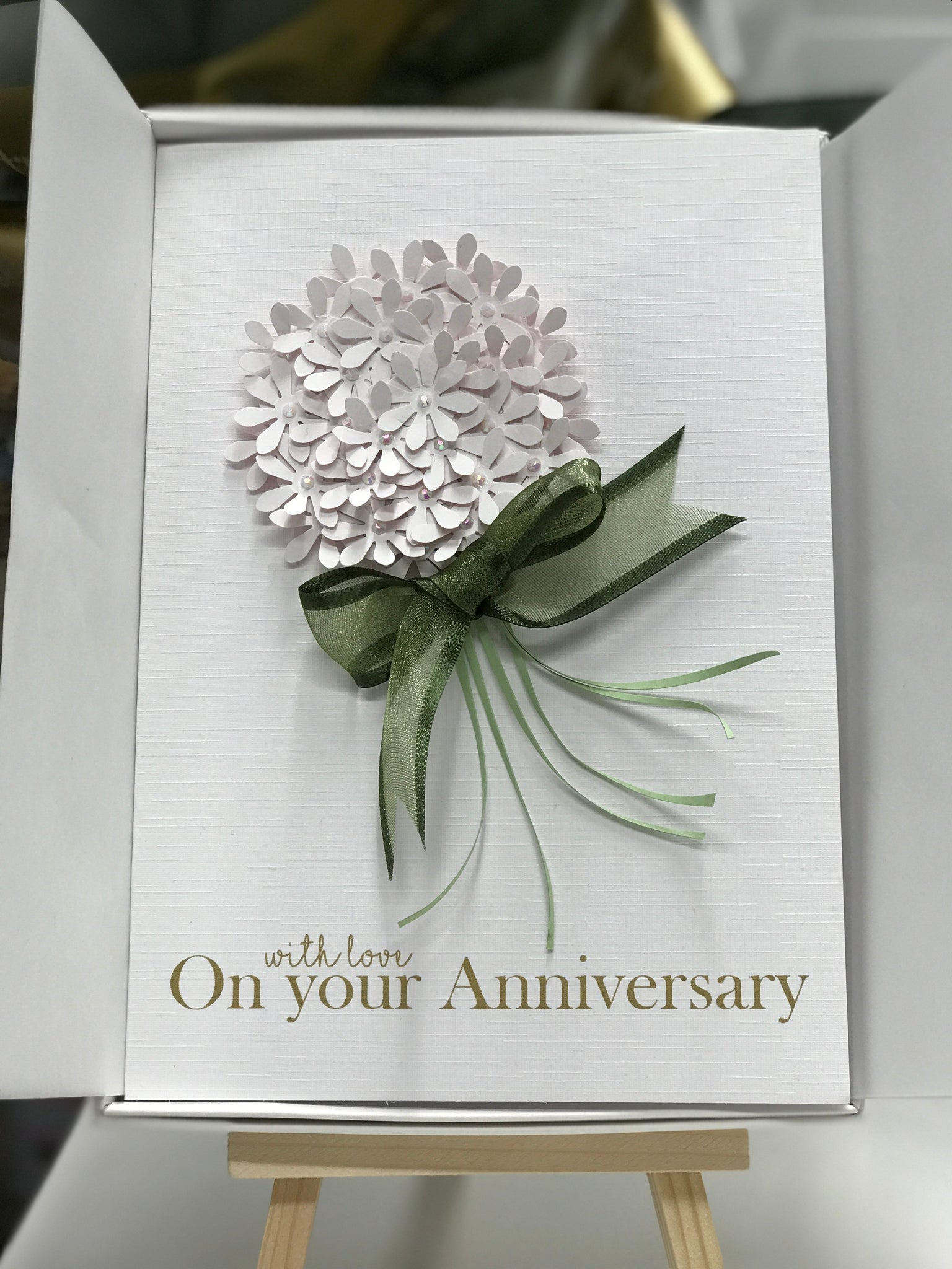 Personalised Bouquet Anniversary card