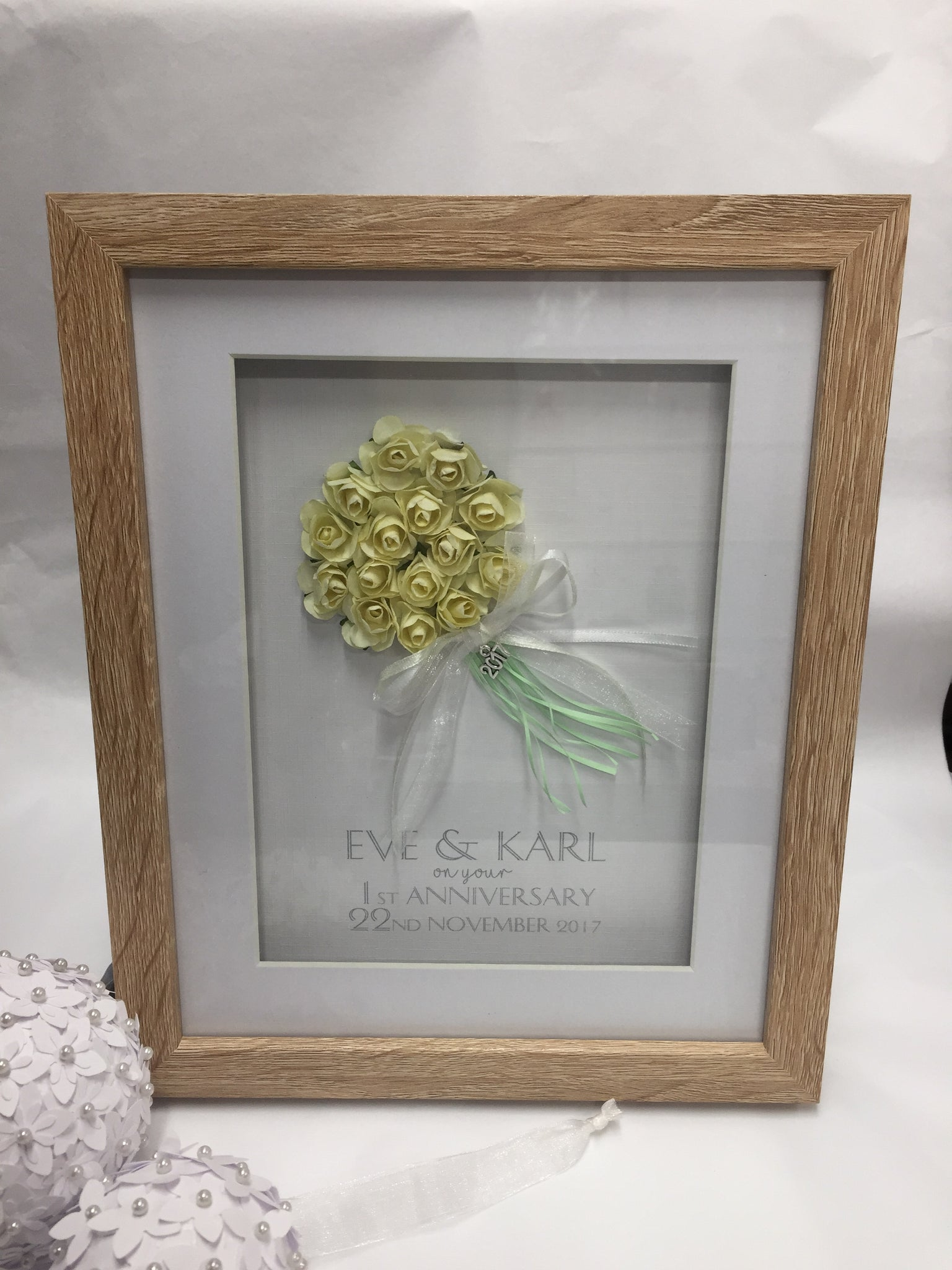 Personalised First Wedding Anniversary Framed Gift