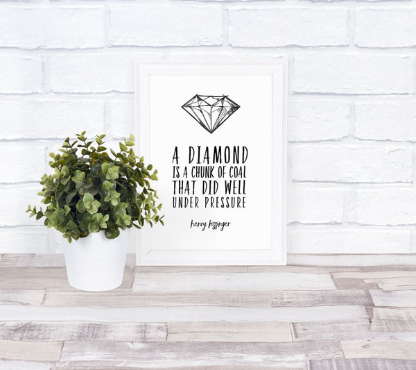 """A Diamond is a chunk of Coal"" Frame"
