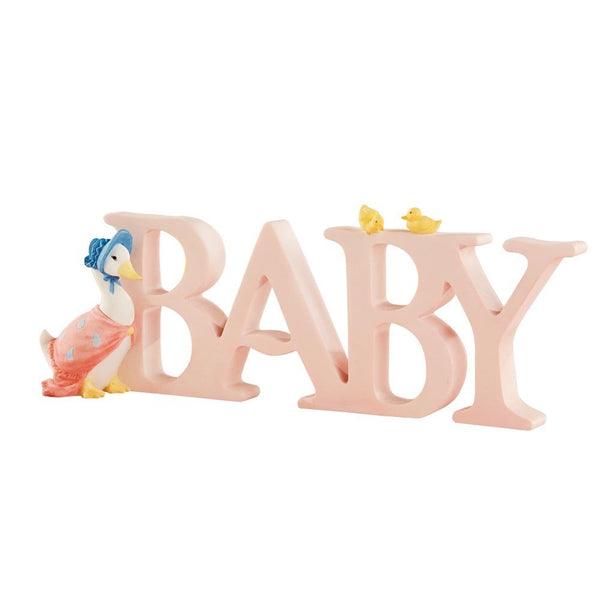 """BABY"" Letters Jemima Puddle Duck"