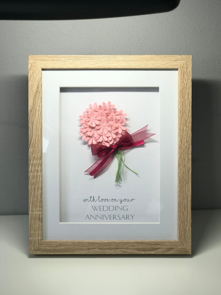 Personalised Wedding Anniversary Bouquet Frame – The Little Gift Company
