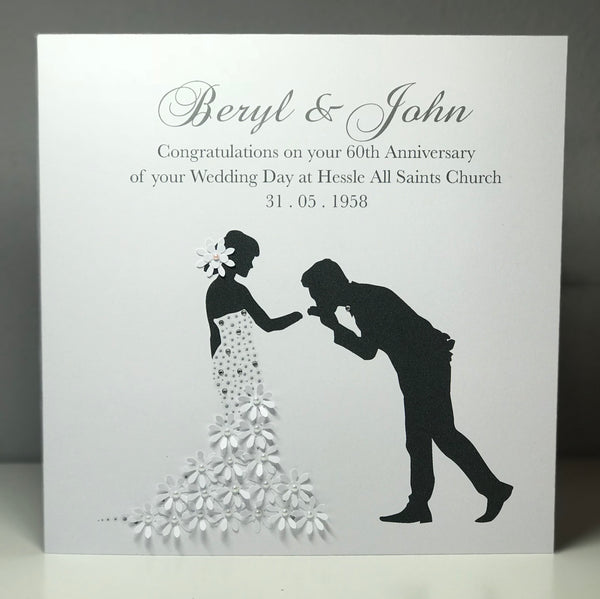 Personalised Wedding Anniversary 8 x 8 Card