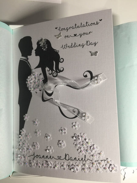 Congratulations Personalised Wedding Card