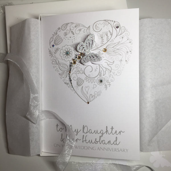 A5 Personalised Butterfly Wedding Card