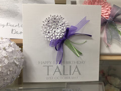 Personalised Bouquet Card for all occasions