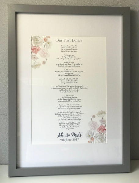 Personalised First Dance Frame