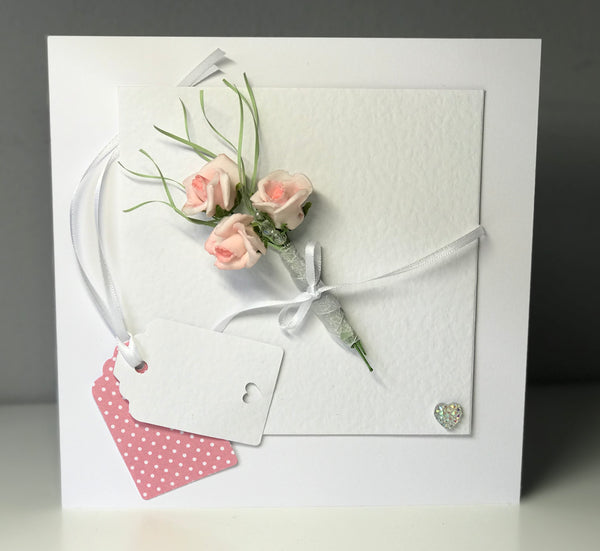 Pink Rose All Occasions 8 x 8 Card