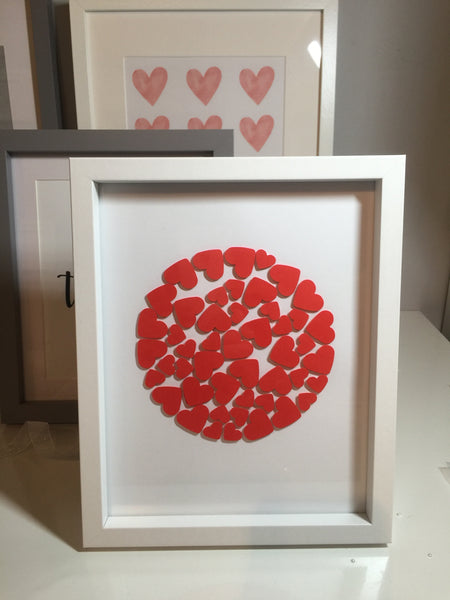Red Hearts Handmade Frame