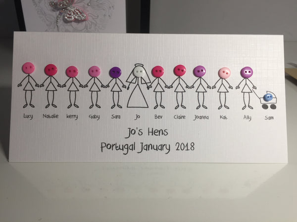Personalised Hen Night Card