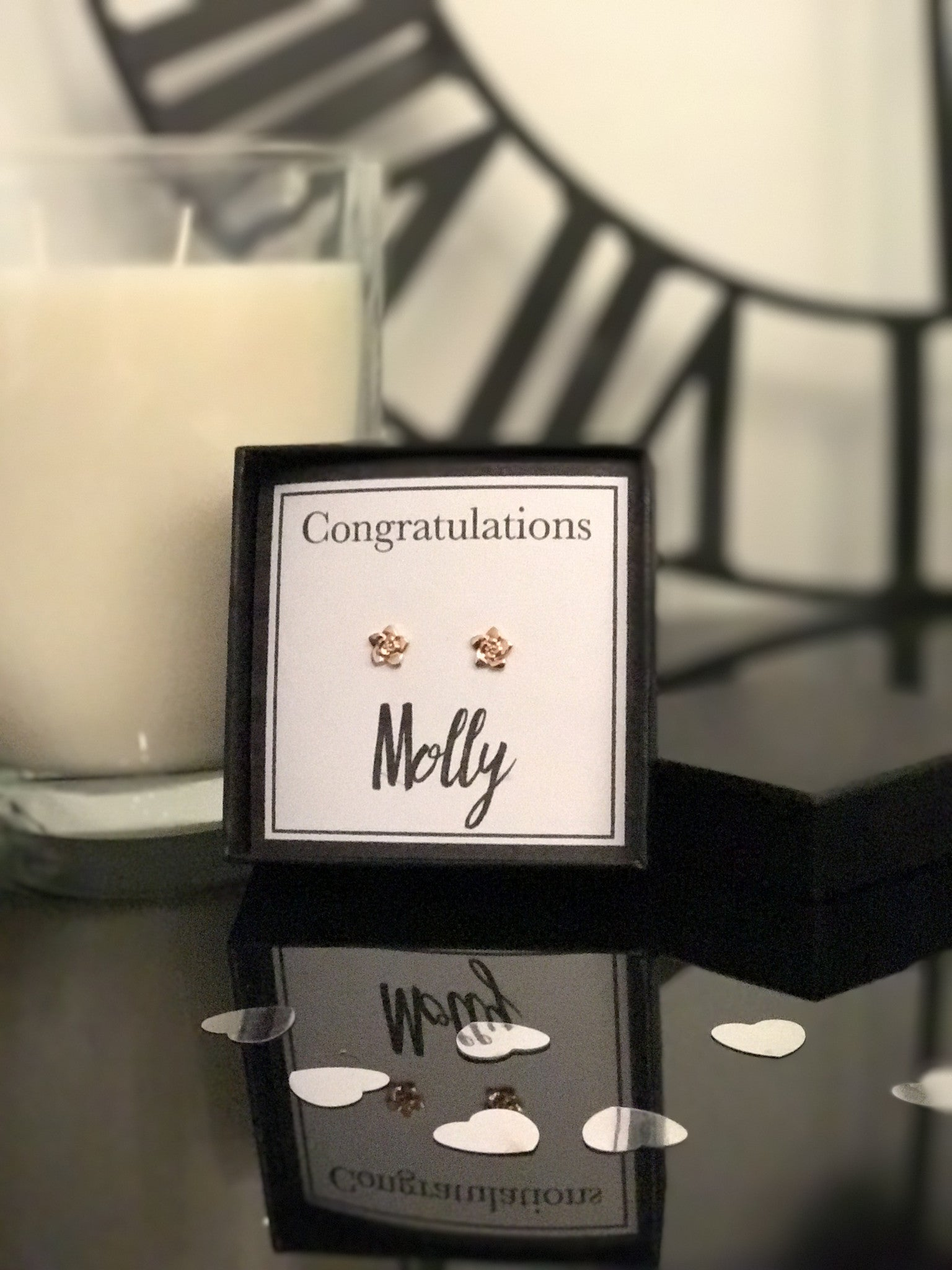 "Say ""Congratulations"" with Rose Gold Earrings"