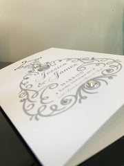 The Dress - Luxury Handmade Personalised Wedding or Engagement Card
