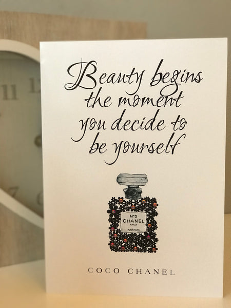 "Coco Chanel ""Be Yourself"" Glossy Greeting Card"