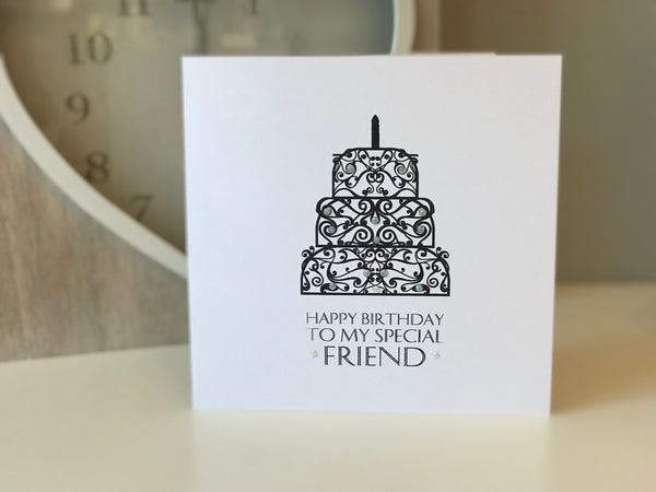 "Happy Birthday ""To My Special Friend"" Birthday Cake Card"