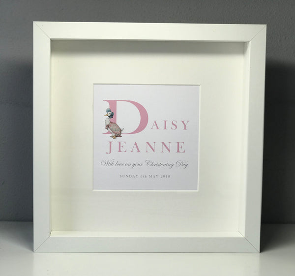 Personalised Jemima Puddle-Duck Christening Frame