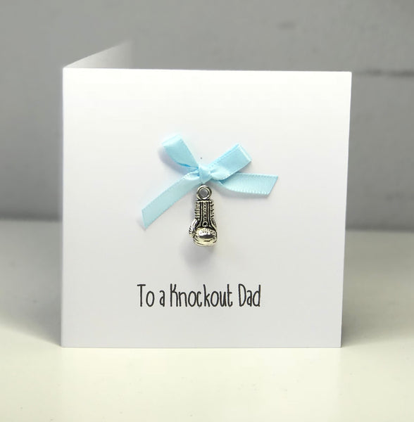 'Knockout Dad' 4 x 4 Mini Greeting Card