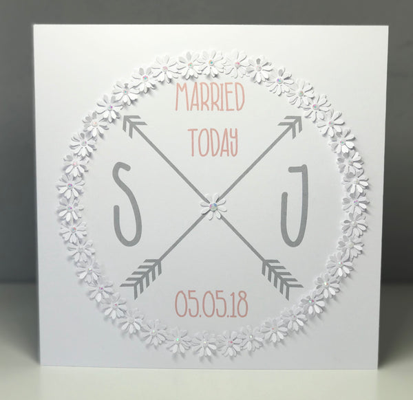 "Personalised ""Married Today"" 8 x 8 Card"