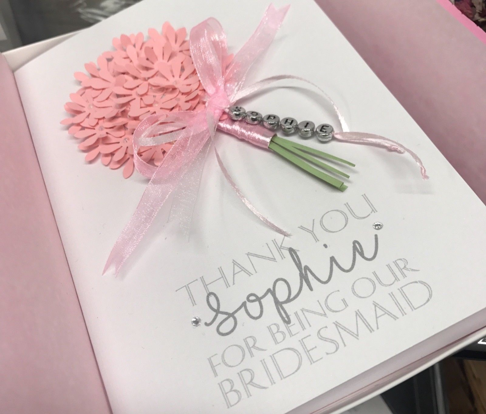 Personalised Thank You Bouquet Card