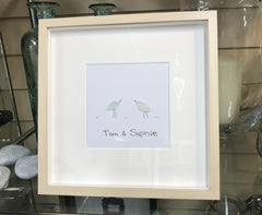 Personalised Bird Seaglass Frame