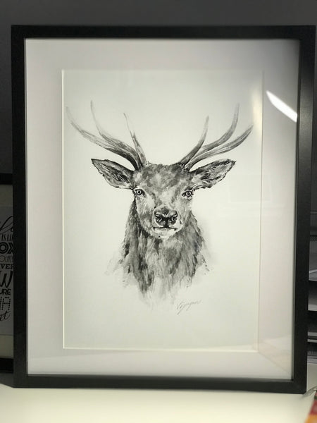 Limited Edition Black & White Stag Frame