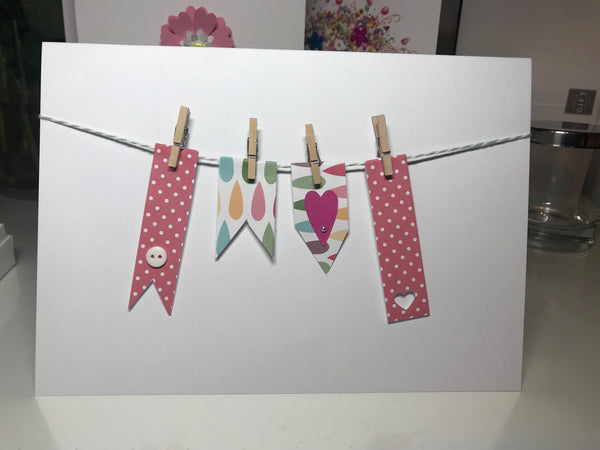 Washing Line All Occasions A5 Card