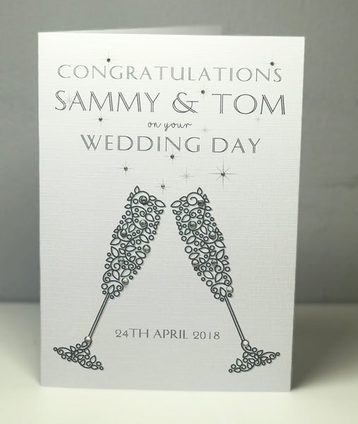 Personalised Wedding Congratulations A5 Card