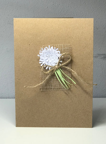 All Occasions 7 x 5 White Bouquet Greetings Card