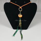 Necklace--Pumpkin Corn