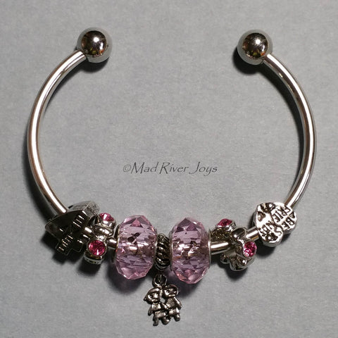 Bracelet--Cuff--Pink Friends Forever