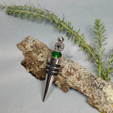 Bottle Stopper--Celtic Green