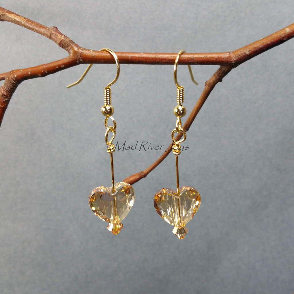 Earrings--Hearts Afire