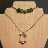 Necklace--Shamrocks and Pearls