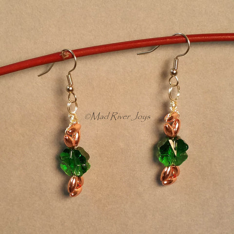 Earrings--Celtic Knotted Clover