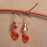 Earrings--Organic Hearts--Rose Gold
