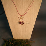 Necklace--Twin Hearts Focal in Pink