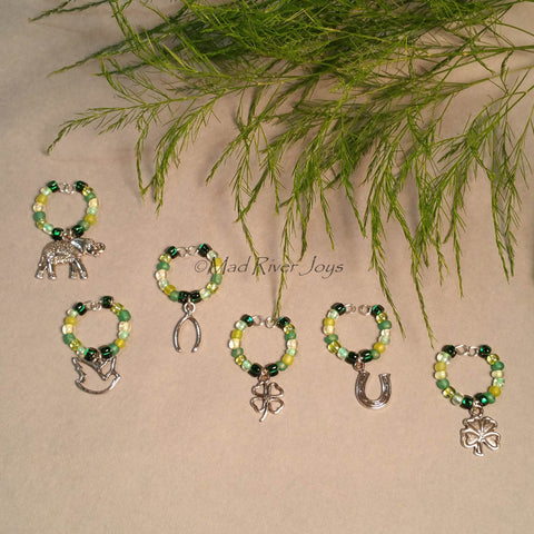 Wine Glass Charms--Lucky Charms--Set of 6
