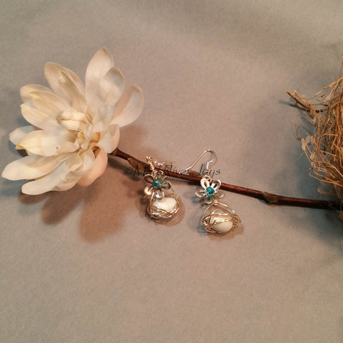 Earrings--Blue Spring Nest