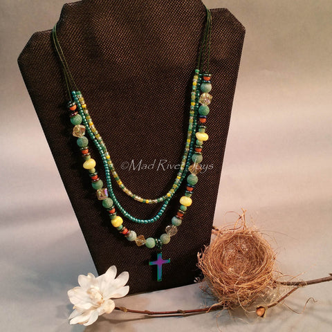 Necklace--Holy Trinity--Green