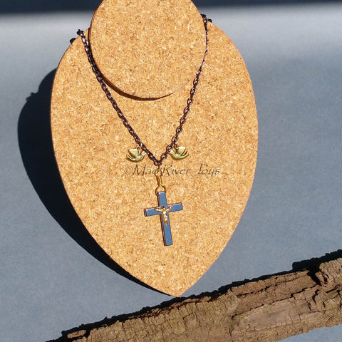 Necklace--Father, Son, & Holy Ghost--Gun Metal