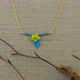 Necklace--Floral Swing--Daisy