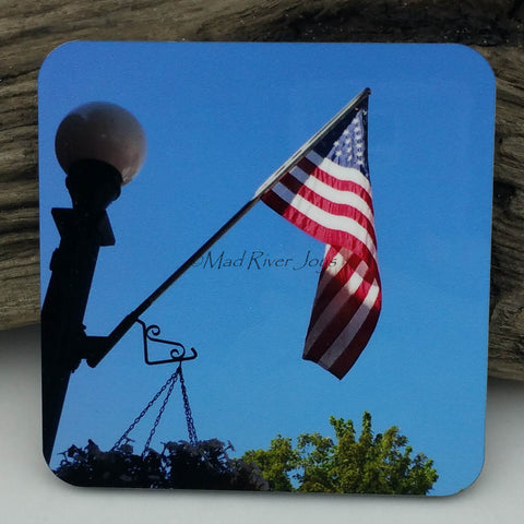 Coaster--Photo Print--Cork--Old Glory