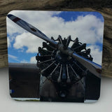 Coaster--Photo Print--Cork--Ford Tri-Motor Center Engine