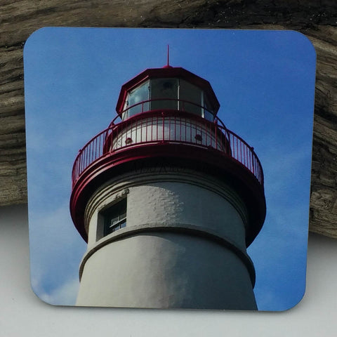 Coaster--Photo Print--Cork--Marblehead Lighthouse Lantern Room