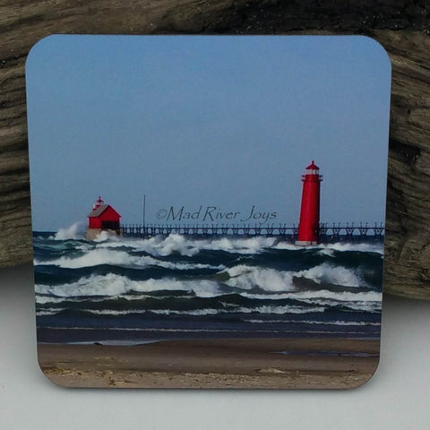 Coaster--Photo Print--Cork--Grand Haven Lighthouse