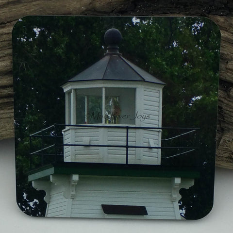Coaster--Photo Print--Cork--Port Clinton Lighthouse Lantern Room