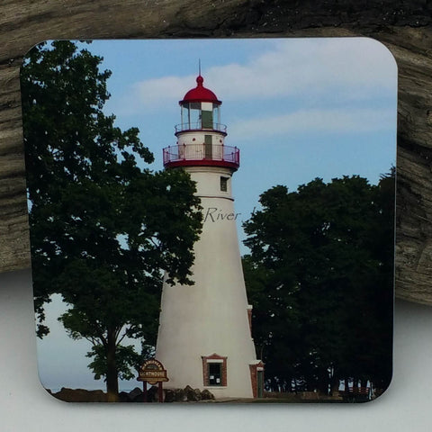 Coaster--Photo Print--Cork--Marblehead Lighthouse