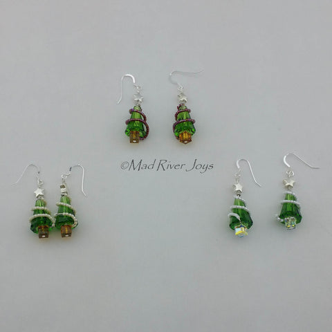 Earrings--Christmas Trimmed Tree