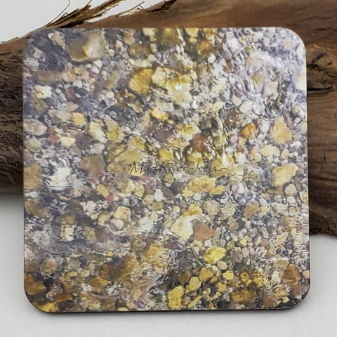 Coaster--Photo Print--Cork--River Rocks