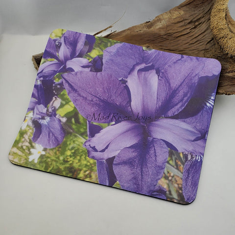 Mouse Mat--Photo Print--Foam--Purple Iris
