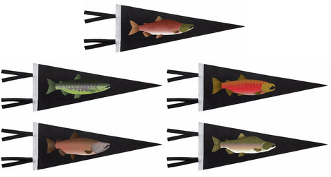 Salmon Pennants - ALL 5 (save $25)