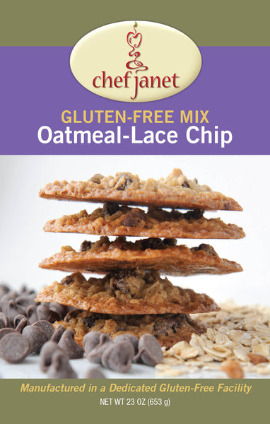 Gluten-Free Oatmeal Lace Chip Cookie Mix - gluten free Chef Janet K